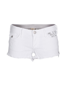 TRUE RELIGION Joey Cut-Off Studs Optic White