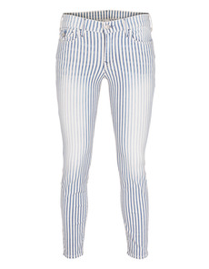 TRUE RELIGION Serena Crop Super Skinny Stripes