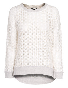 Pam&Gela Slouchy Crochet Lace White