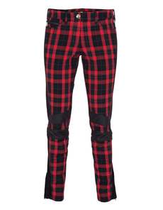 G DESIGN Biker Check Black Red