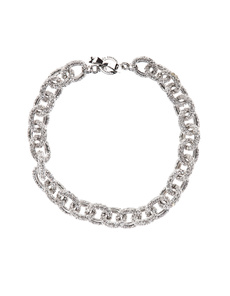 JUICY COUTURE Pave Link Silver