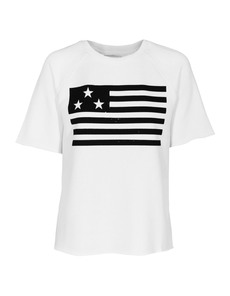 ZOE KARSSEN USA Flag Optical White