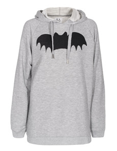 ZOE KARSSEN Bat Hooded Heather Grey