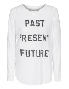 ZOE KARSSEN Long Past Present White