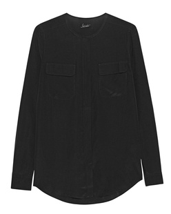 JADICTED Pocket Blouse Black