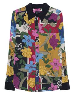 JADICTED Pattern Silk Blouse Multicolor