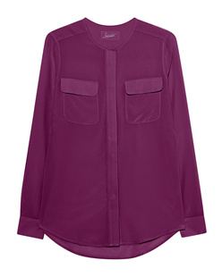 JADICTED Pocket Blouse Fuchsia
