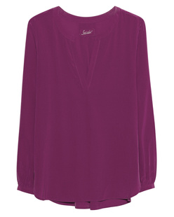 JADICTED Blouse Silk Fuchsia