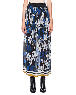 JADICTED Flower Plissé Skirt Blue Multicolor