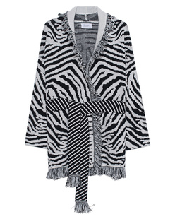 JADICTED Zebra Fringes Black White