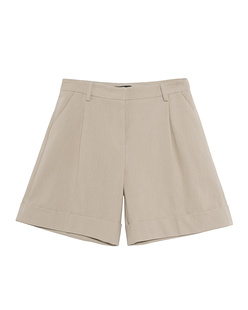 SLY 010 Box Pleat Short Beige
