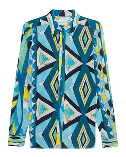 JADICTED Pattern Silk Blue Multicolor
