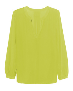JADICTED V-Neck Silk Lime Yellow