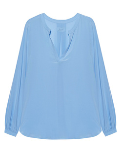 JADICTED V-Neck Silk Bluebel Light Blue