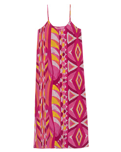 JADICTED Silk Dress Strap Loose Pink Multicolor