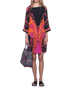 JADICTED Silk Dress Multicolor