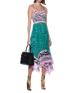 JADICTED Lace Dress Zebra Patch Multicolor