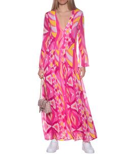 JADICTED Pattern Sleeve Multicolor Pink