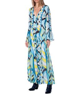 JADICTED Pattern Sleeve Multicolor Blue