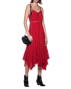 JADICTED Lace Dress Red