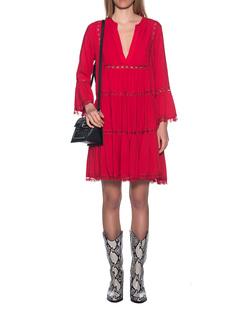 JADICTED V-Neck Dress Red