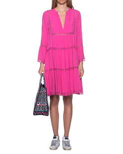 JADICTED V-Neck Dress Pink