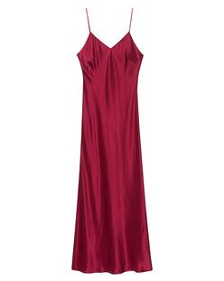 JADICTED Dress Strap Silk Red