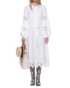 JADICTED Linen Dress White