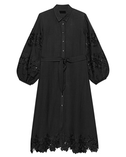 JADICTED Linen Dress Black