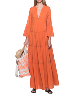DEVOTION Long Dress Orange