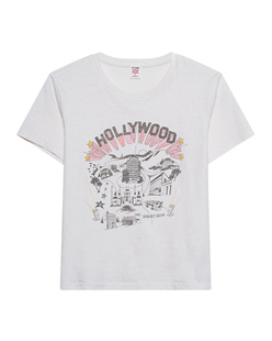 RE/DONE Classic Hollywood Print Vintage White
