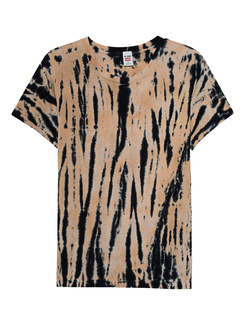 RE/DONE 70s Loose Tee Tiger Dye Multicolor