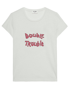 RE/DONE Slim Double Trouble Vintage White