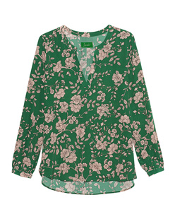 JADICTED V-Neck Flower Green