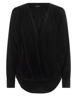 JADICTED V-Neck Silk Black