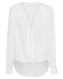 JADICTED V Neck Silk White