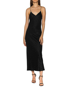 JADICTED Slip Dress Pattern Black