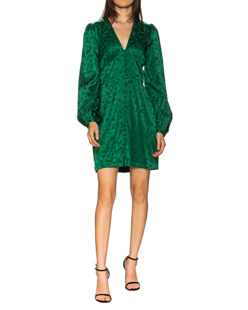 JADICTED Short Silk Floral Green