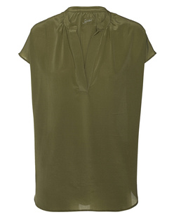 JADICTED Silk V-Neck Khaki
