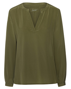 JADICTED Silk Slit Khaki
