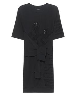 MOSCHINO Lace Sweat Dress Black