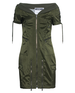 MOSCHINO Military Zip Green