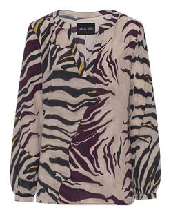 JADICTED Silk V Neck Zebra Multicolor