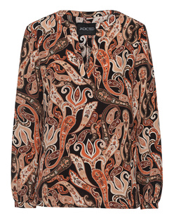 JADICTED V Neck Paisley Multicolor