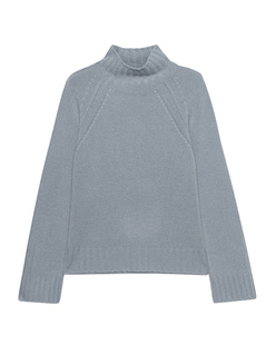 JADICTED Stand Up Collar Cashmere Knit Blue