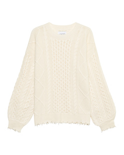 JADICTED Oversize Cable Knit Ivory