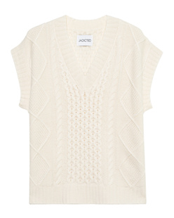 JADICTED Cashmere Wool Cable Knit Ivory
