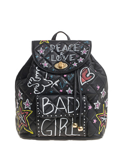FORTE COUTURE Quilted Backpack Bad Girl Black
