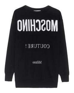 MOSCHINO Couture Label Reversed Black