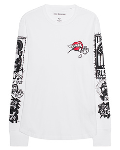 TRUE RELIGION Branded Sleeve White